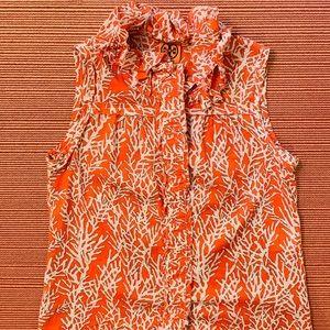 Tory Burch Coral Print Short Sleeve
